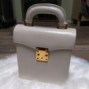 Like New Vintage Reina Italy Leather Box Satchel